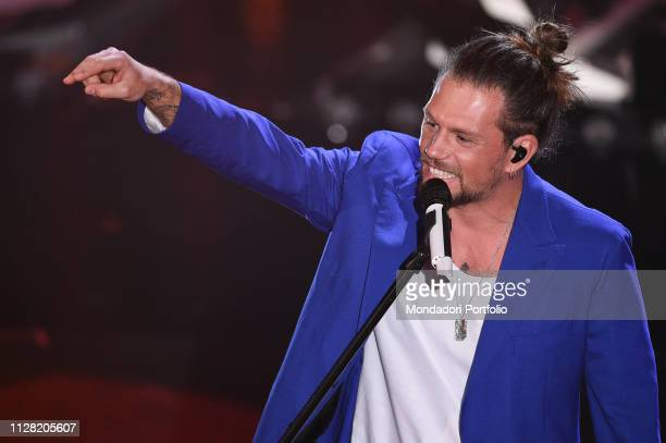 Italian singer Enrico Nigiotti at the third evening of the 69th Sanremo Music Festival Sanremo February 7th 2019