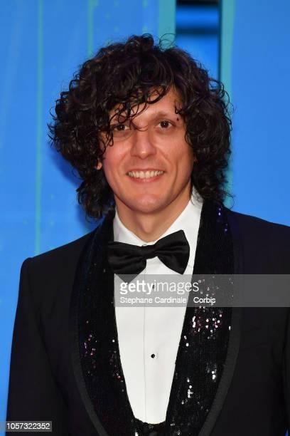 Italian singer Ermal Meta attends the MTV EMAs 2018 on November 4 2018 in Bilbao Spain