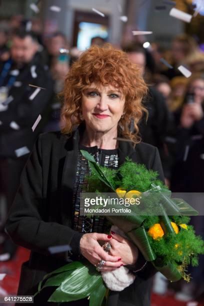 Italian Singer Fiorella Mannoia attends the Red Carpet of 67° Sanremo Music Festival Sanremo February 6 2017