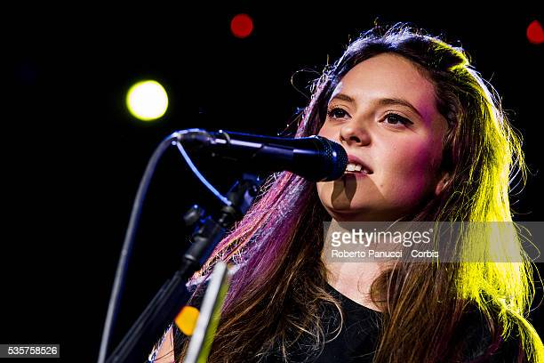 Italian singer Francesca Michielin performs in concert at Quirinetta Theatre on January 08 2016 in Rome Italy