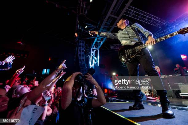 Italian singer Francesco Gabbani performs in concert at Fabrique Music Club on March 25 2017 in Milan Italy