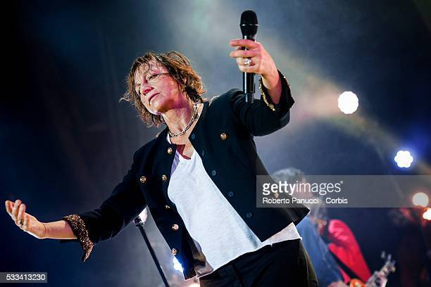 Italian singer Gianna Nannini performs in concert at Augusteo Theatre on May 10 2016 in Naples Italy