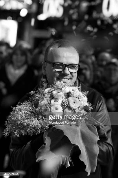 Italian singer Gigi D'Alessio attends the Red Carpet of 67° Sanremo Music Festival Sanremo February 6 2017