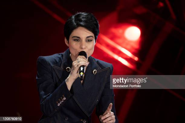 Italian singer Giordana Angi during the episode of Domenica In dedicated to 70th Sanremo Music Festival. Sanremo , February 9th, 2020