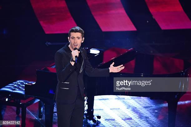 Italian singer Giovanni Caccamo attends the fourth night of 65th Festival di Sanremo on February 13 2015 in Sanremo Italy