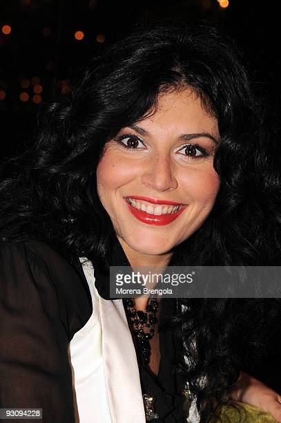 Italian singer Giusy Ferreri attends photocall for the launch of her new CD Fotografie at the Luminal pub on November 16 2009 in Milan Italy