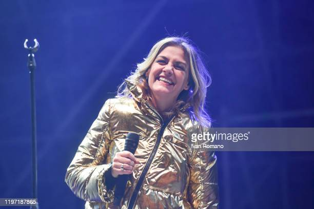 Italian singer Irene Grandi performs at the New Year's live on January 01 2020 in Salerno Italy