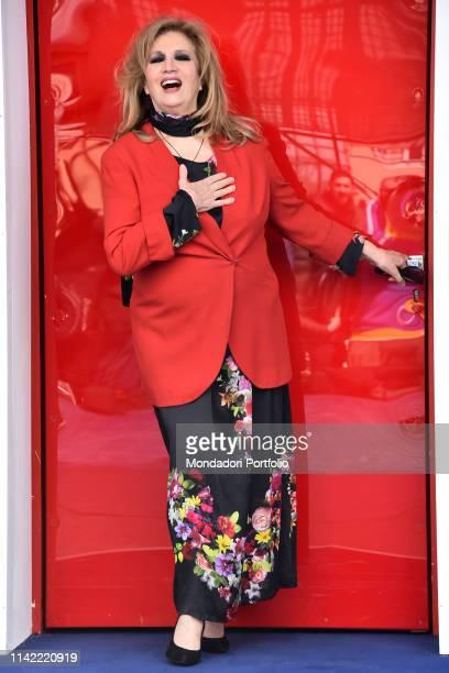 Italian singer Iva Zanicchi attends Grande Fratello 16 photocall at the Cineccitta' studios Rome April 16th 2019