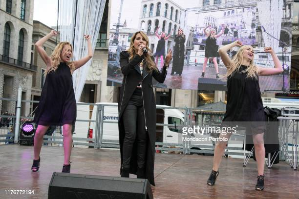 Italian singer Jo Squillo celebrates the International Women's Day with a concert with her colleagues singers Paola Iezzi Antonella Lo Coco and Giusy...