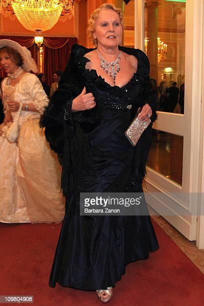Italian singer Katia Ricciarelli attends the exclusive Ballo della Cavalchina at Fenice Theatre on March 5, 2011 in Venice, Italy.