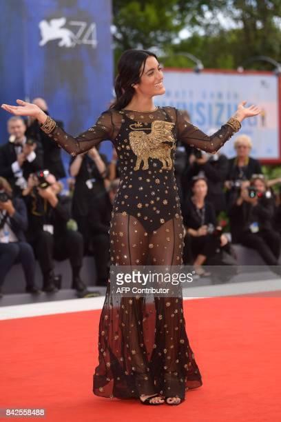 Italian singer Levante aka Claudia Lagona attends the premiere of the movie 'Una Famiglia' presented in competition at the 74th Venice Film Festival...