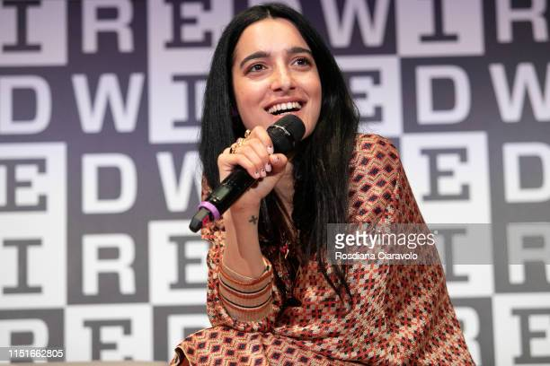 Italian singer Levante attends the Wired Next Fest 2019 at the Giardini Indro Montanelli on May 25 2019 in Milan Italy