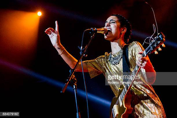 Italian singer Levante performs in concert at Alcatraz Music Club on March 13 2016 in Milan Italy