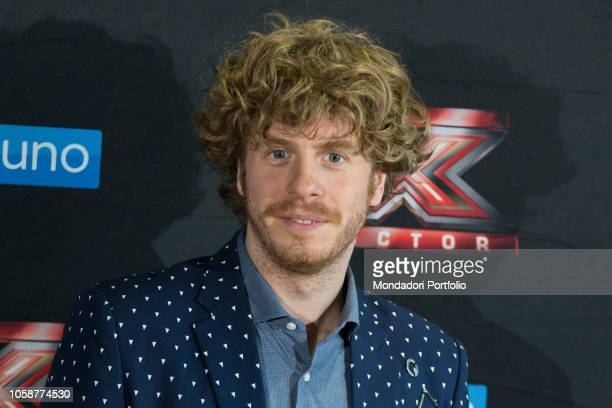 Italian singer Lodo Guenzi at the press conference of X Factor 2018 with the presence of coaches competitors and presenters of Xtra Factor and the...