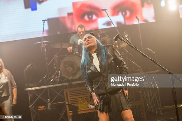 Italian singer Loredana Bertè performs at Teatro Nazionale in Milano during the last night of her Amiche SÏ tour Milano October 30th 2017