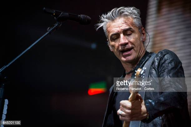 Italian singer Luciano Ligabue performs in concert at Pala Florio on February 24 2017 in Bari Italy