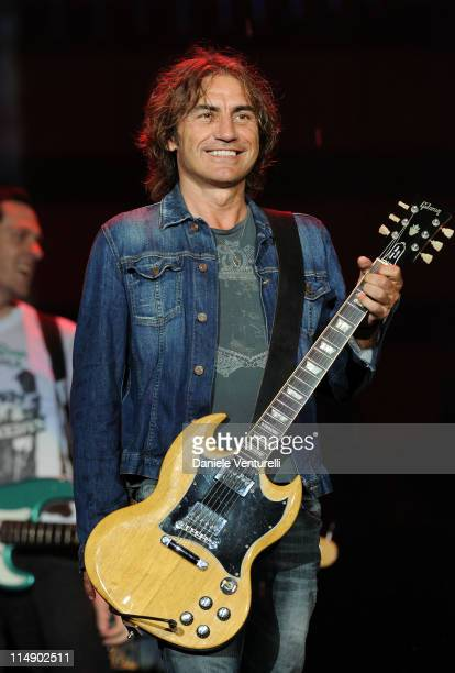 Italian singer Luciano Ligabue performs live during the Wind Music Awards Show at the Arena of Verona on May 27 2011 in Verona Italy
