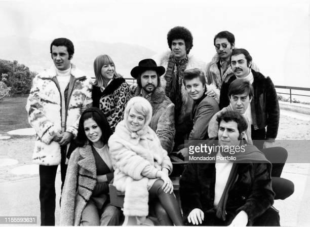 Italian singer Lucio Battisti Italian singers Tony Del Monaco Wilma Goich Rosanna Fratello and Bobby Solo Italian singer and actress Rita Pavone and...
