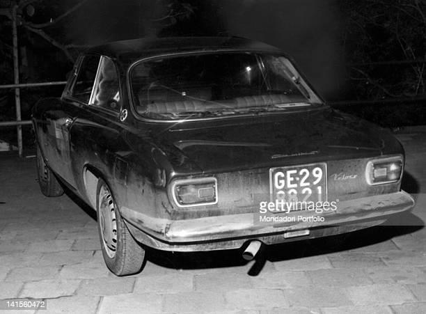 Italian singer Luigi Tenco's car Sanremo January 1967
