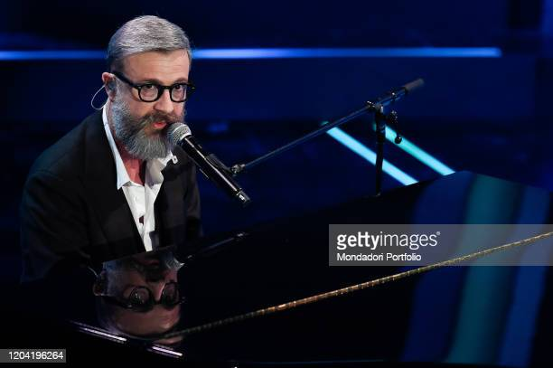 Italian singer Marco Masini at the first evening of the 70th Sanremo Music Festival Sanremo February 4th 2020