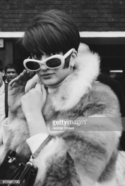 Italian singer Mina Mazzini, at Heathrow Airport, UK, 18th January 1967.
