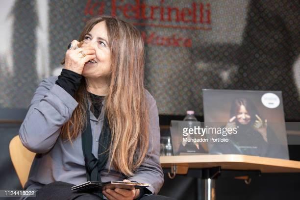 Italian singer Nada Malanima presents her new album E' un momento difficile tesoro Milan January 23rd 2019