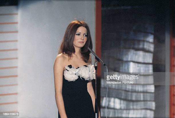 Italian singer Nada performing the song Re di denari at the 22nd Sanremo Music Festival Sanremo 1972