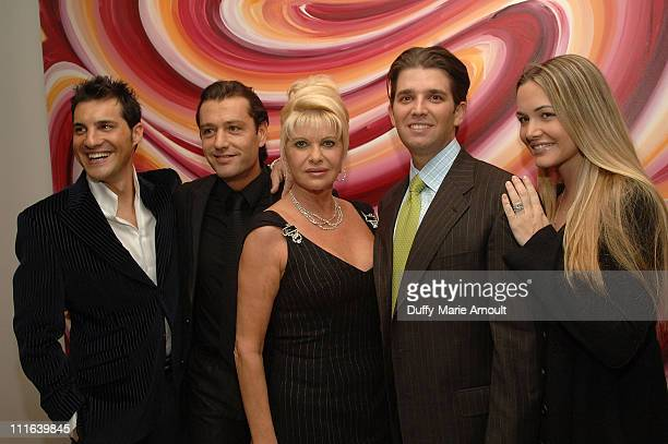 Italian Singer Nicola Congiu Rossano Rubicondi Ivana Trump Donald Trump Jr and Vanessa Trump before Nicola Congiu's private performance at 500 Park...