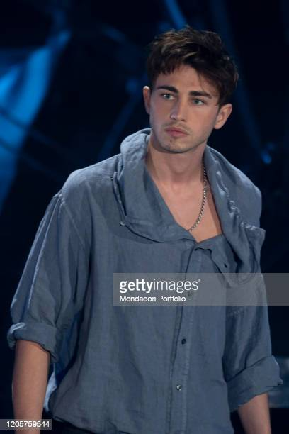 Italian singer Riki during the episode of Domenica In dedicated to 70th Sanremo Music Festival. Sanremo , February 9th, 2020