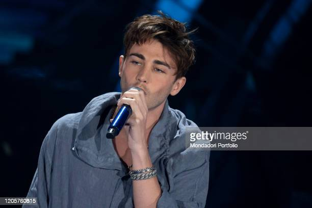 Italian singer Riki during the episode of Domenica In dedicated to 70th Sanremo Music Festival Sanremo February 9th 2020