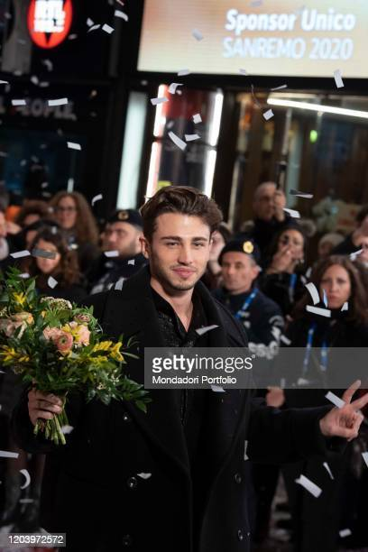 Italian singer Riki during the opening Red Carpet of the 70 Sanremo Music Festival Sanremo February 3rd 2020