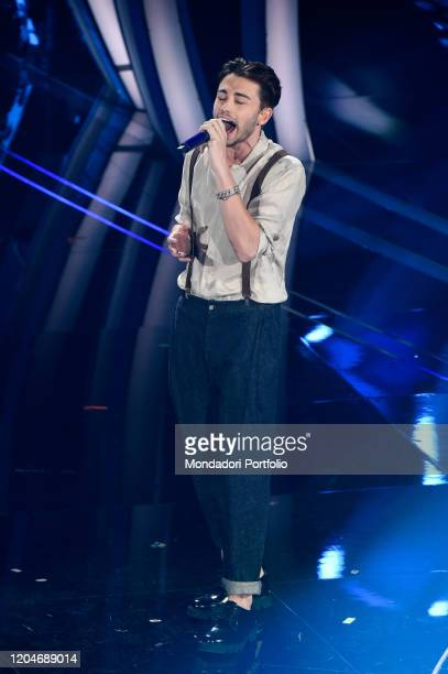 Italian singer Riki during the third evening of the 70 Sanremo Music Festival. Sanremo , February 4th, 2020
