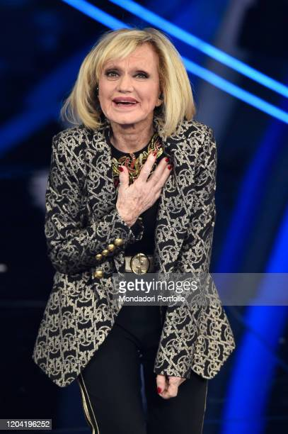Italian singer Rita Pavone at the first evening of the 70th Sanremo Music Festival Sanremo February 4th 2020