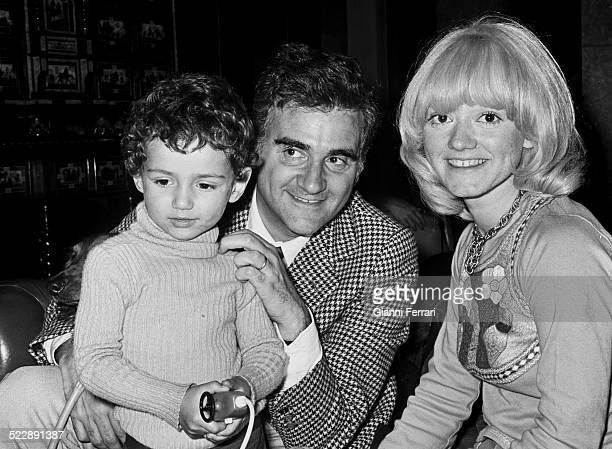 Italian singer Rita Pavone with her husband Italian singer Teddy Reno and her son 10th May 1973 Madrid Spain