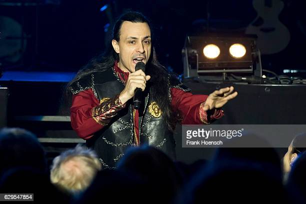 Italian singer Roberto Tiranti performs live during The Celtic Rock Opera Excalibur at the MercedesBenz Arena on December 13 2016 in Berlin Germany