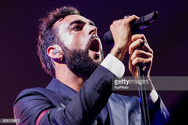 Italian singer songwriter Marco Mengoni performed live in a sold out concert at Pala Alpitour Here on stage