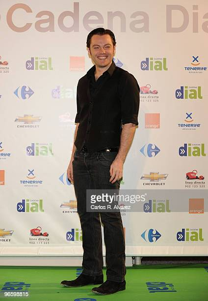 Italian singer Tiziano Ferro attends the ''Cadena Dial'' 2010 awards at the Tenerife Auditorium on February 11 2010 in Tenerife Spain