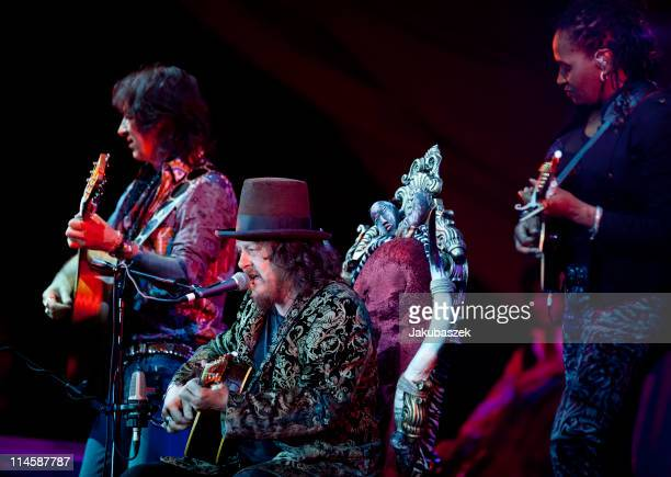 Italian singer Zucchero performs live during a concert at the O2 World on May 24 2011 in Berlin Germany