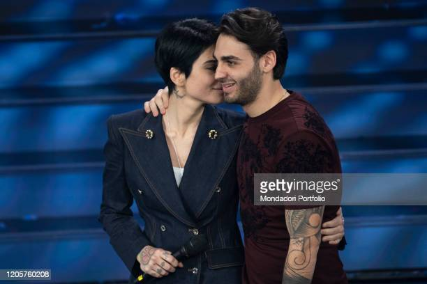 Italian singers Alberto Urso and Giordana Angi during during the episode of Domenica In dedicated to 70th Sanremo Music Festival. Sanremo , February...