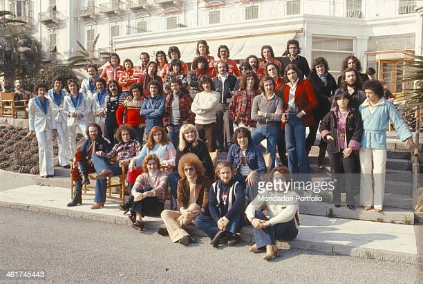 Italian singers Daniela Davoli , Santino Rocchetti, Umberto Napolitano, Donatella Rettore and the bands Matia Bazar, Albatros, Santo California,...