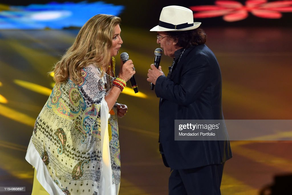 Italian Singers Romina Power And Albano Carrisi During Tv