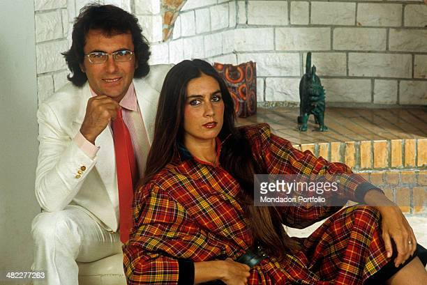 Italian singersongwriter Al Bano and American singer and actress Romina Power posing together 1984