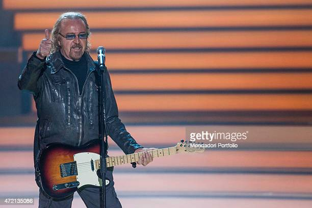 """""""Italian singer-songwriter and guitarist Umberto Tozzi performing at Crocus City Hall on the occasion of Al Bano's 70th birthday party. Moscow ,..."""