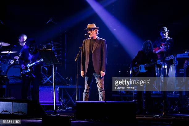 Italian singersongwriter and musician Francesco De Gregori performs live at the Teatro Coliseum with a sold out concert from tour De Gregori sings...