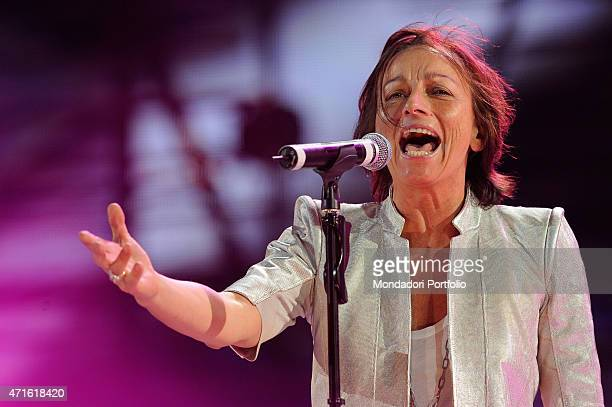 'Italian singersongwriter and musician Gianna Nannini performing for Wind Music Awards Verona Italy June 2009 '