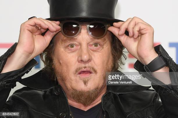 Italian singersongwriter and musician Zucchero attends a photocall during the fourth day of 67 Sanremo Festival at Teatro Ariston on February 10 2017...