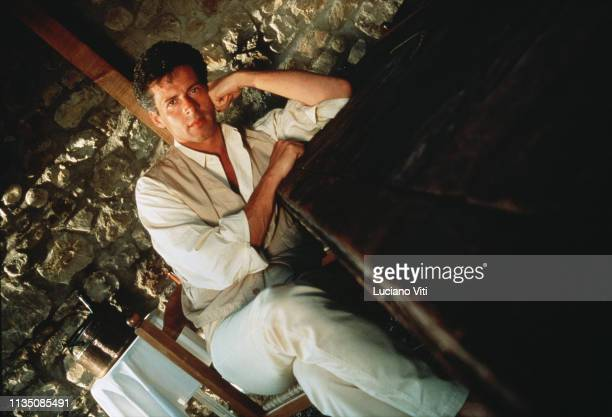 Italian singer-songwriter Claudio Baglioni, Fabbr, Viterbo, Italy, 1991.