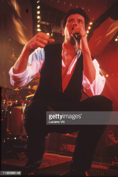 Italian singer-songwriter Claudio Baglioni performing in Florence, Italy, 1991.