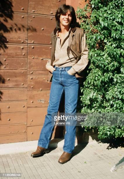 Italian singer-songwriter Claudio Baglioni, Rome, Italy, 1982.