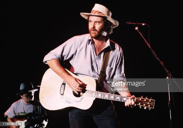 Italian singersongwriter Francesco De Gregori performing at Palasport in Rome Italy 1992